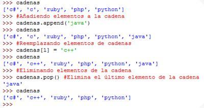 cadenas en python el mundo de ubuntu guia python las cadenas y las listas