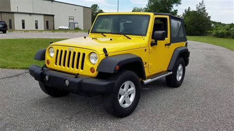 yellow jeep 2007 jeep wrangler x 4x4 for sale 6 speed yellow side