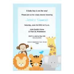 Safari Invitations For Baby Shower - convites ch 225 de fraldas do menino convites de casamento anivers 225 rio ou festas