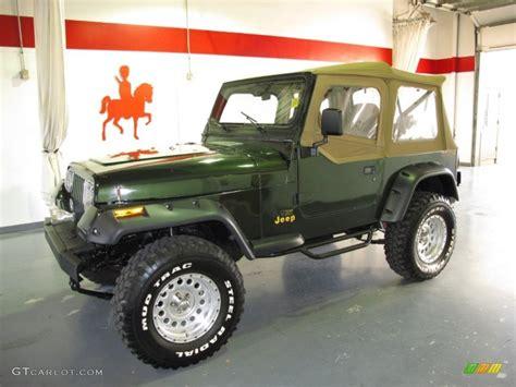 1995 Jeep Wrangler Green 1995 Moss Green Pearl Jeep Wrangler Grande 4x4