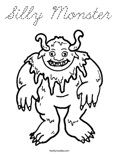monster eyes coloring page silly monster coloring page cursive twisty noodle