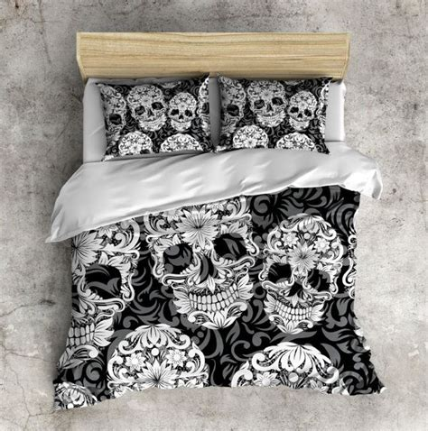 schlafzimmer ideen totenkopf sugar skull bedding any color beautiful scroll work by