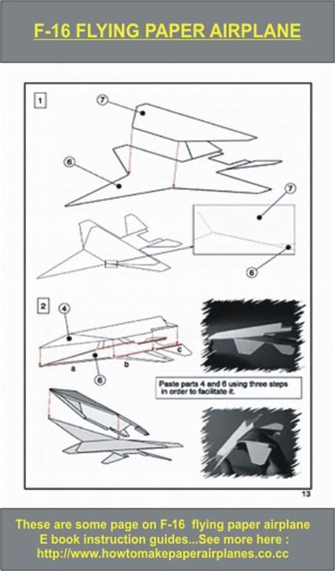 How To Make A Great Flying Paper Airplane - f 16 thunderbirds flying paper airplane by