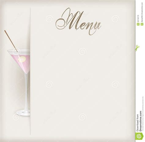 cocktail menu template free best template design images
