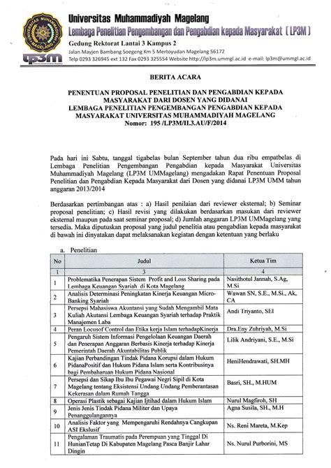 format proposal penelitian dikti berita acara penentuan proposal penelitian dan pengabdian