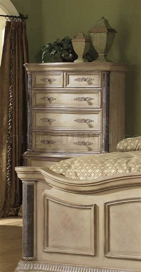 white marble bedroom set white wash finish classic 5pc bedroom set w marble tops