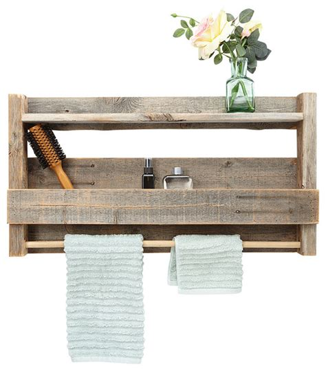 Wood Shelves Bathroom Reclaimed Wood Bathroom Shelf Rustic Bathroom Cabinets And Shelves By Hutson Designs