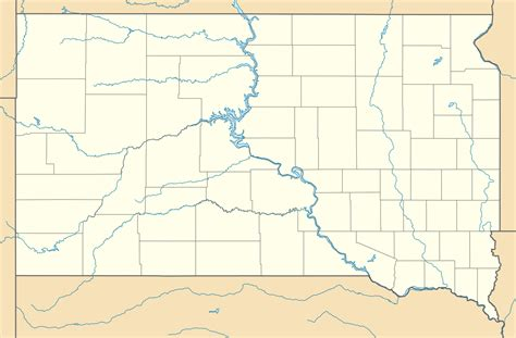 south dakota in usa map file usa south dakota location map svg wikimedia commons