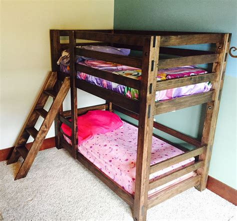 Diy Bunk Beds White Classic Bunk Beds Diy Projects