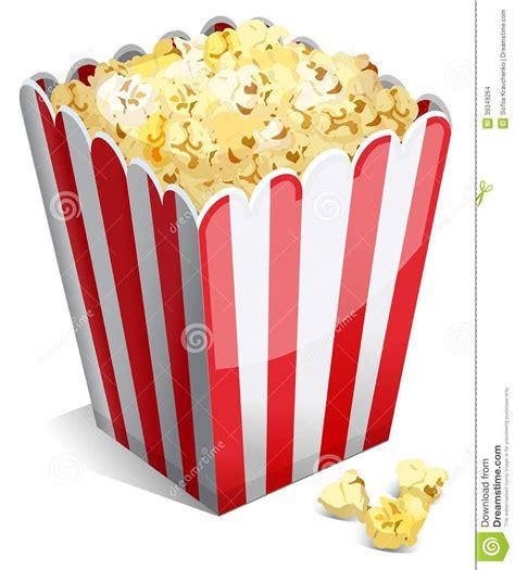 bicchieri pop corn popcorn in una vasca a strisce illustrazione vettoriale