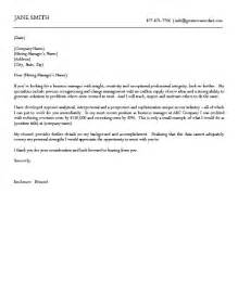 Cover Letter Exles Business by Business Cover Letter Exle