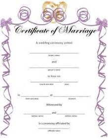 printable wedding certificates for fun lovetoknow