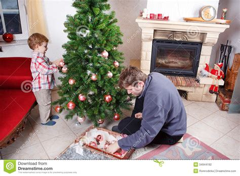 tree at home and decorating tree at home