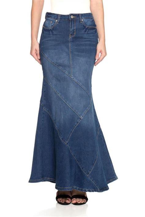 Paneled Denim Flare Mini Skirt 490 best clothes images on maxi skirts summer