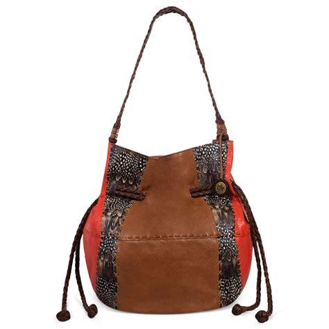 the sak indio leather drawstring shoulder bag in brown