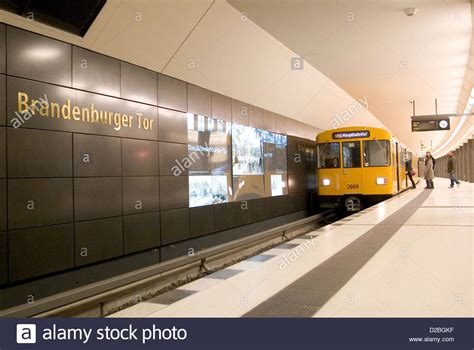 berlin germany subway line u55 in the station