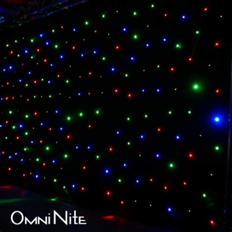 led curtain backdrop omni nite led curtain backdrop multicolor leds on black