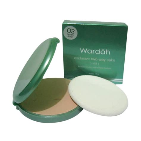 Harga Wardah Exclusive Two Way Cake jual wardah exclusive two way cake refill 03 beige