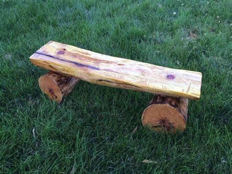 cedar log bench by buckfever14 lumberjocks com osage orange bench by midnightww lumberjocks com