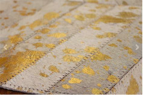 metallic gold rug metallic gold herringbone cow hide rug anima and amare