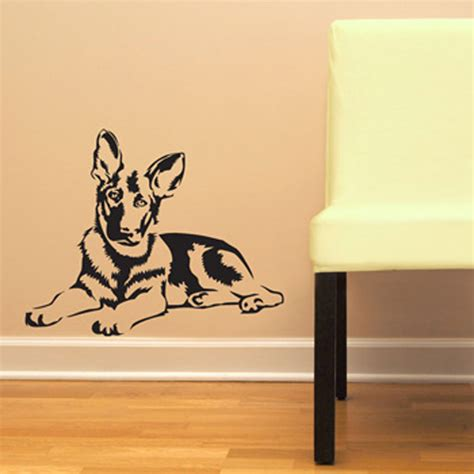 wall stickers for german shepherd gsd vinyl wall decal