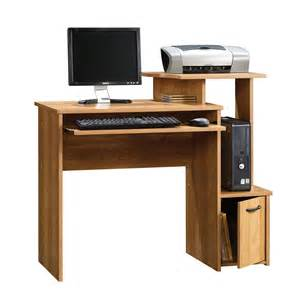 Computer Desk With Tower Storage New Small Home Office Oak Color Finish Pc Computer Desk With Cpu Tower Storage Ebay