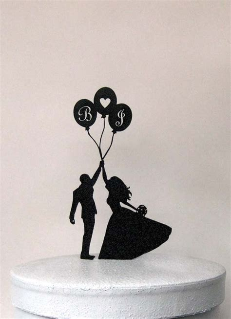 hochzeitstorte topper personalized wedding cake topper balloon wedding with