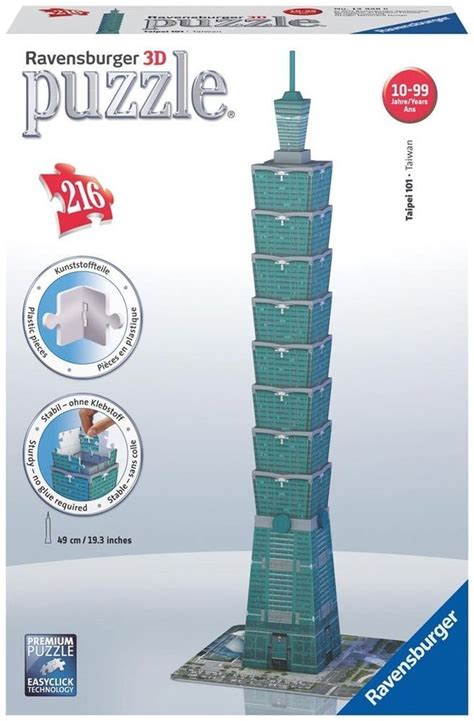 Puzzle 216 Pieces new 3d jigsaw puzzle 216 ravensburger taipei 101
