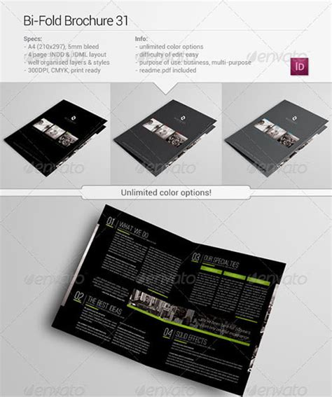 30 Awesome Indesign Brochure Templates Bi Fold Brochure Template Indesign