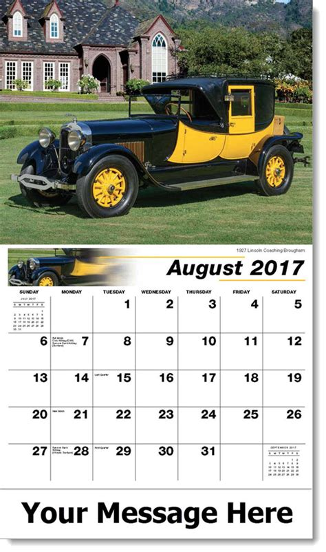 Promo Calendars Ford Classics Wall Calendar Personalized Promotional
