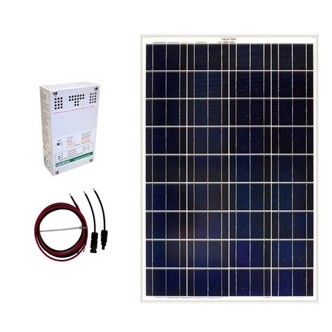 grape solar 100 watt grid solar panel kit gs 100 kit