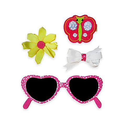 Yellow Hairclip Set buy so dorable 4 butterfly sunglasses and hair clip