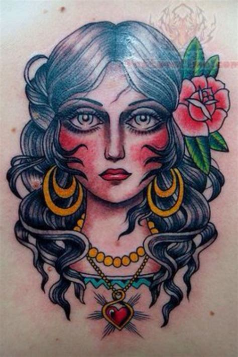 american traditional gypsy tattoo 163 best tattoos traditional images on