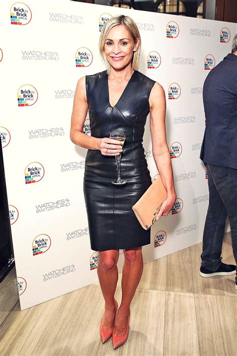 jenni falconer attends hospice charity event leather