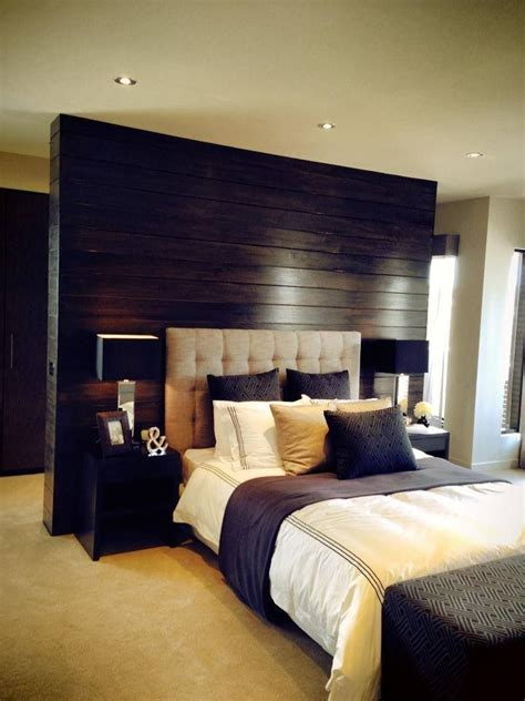 beautiful bedroom love  timber feature wall