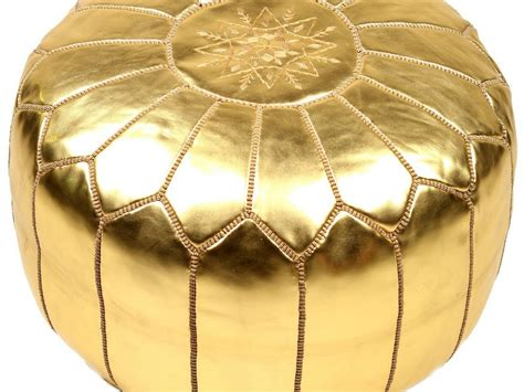 gold pouf ottoman moroccan pouf uk round handmade double knitted pouffe