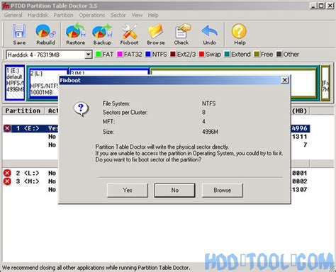 format fat32 to fat16 fix boot sector of fat16 fat32 ntfs partitions