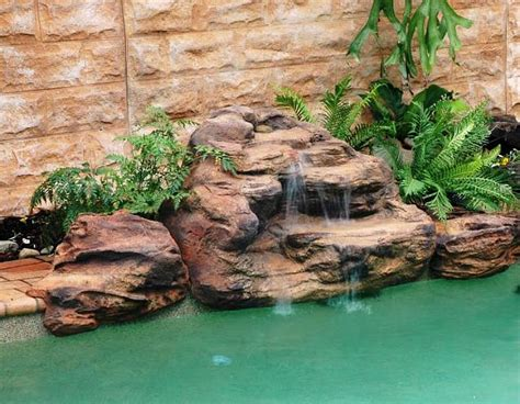 tropicana pool waterfalls kits fake pool rocks fountains