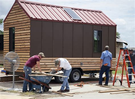 tiny houses in austin are helping the homeless but it a m students build tiny houses for the homeless prime
