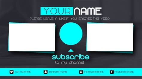 Scary Outro Card Template free vegas 14 pro outro template animated outro with end