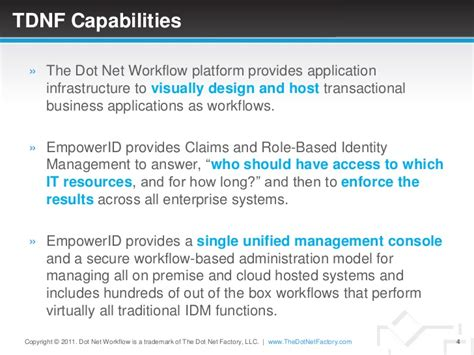 dot net workflow sales overview of empowerid