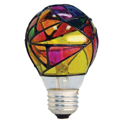 stained glass light bulb ge 25 watt incandescent a19 stained glass light bulb 25a