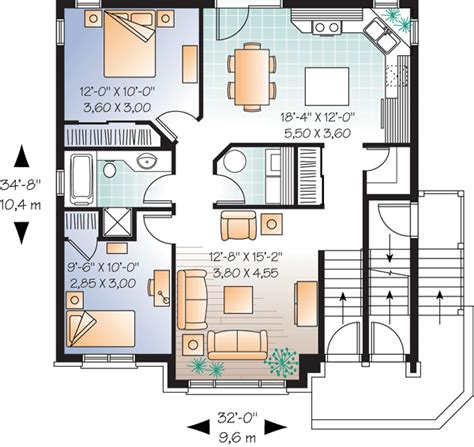 family house floor plans multi family plan 64883 at familyhomeplans com