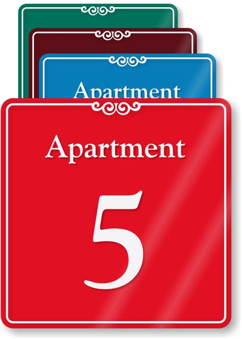 appartment number apartment number signs apartment letter signs more