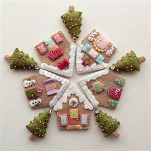 Gingerbread houses by gingermelon sewing pattern