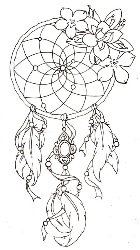 free tattoo outline designs catcher tattoos