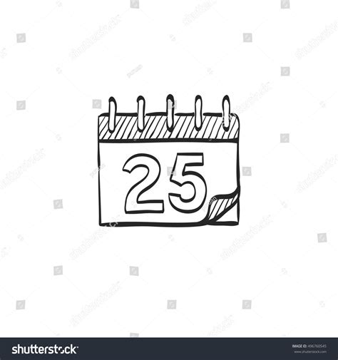 doodle event calendar icon doodle sketch lines stock vector
