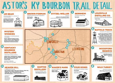 map kentucky bourbon trail the bourbon distilleries trail tasting notes