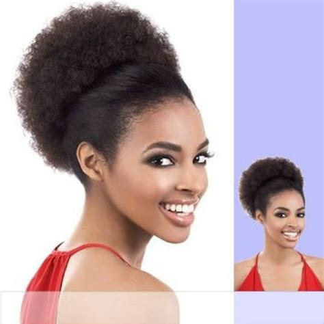 small clip on afro puff free shipping clip in short black afro puff kinky curly