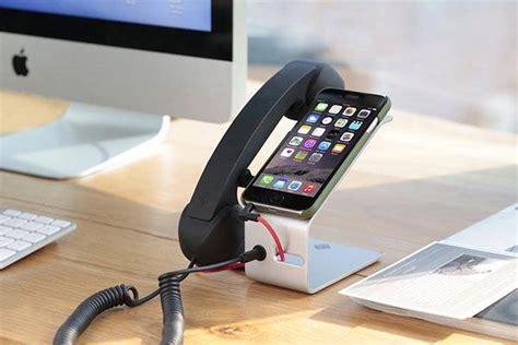 smartphone charging station transitional desk pop desk docking station with detachable handset for